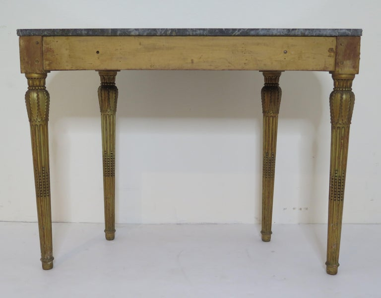 19th Century Louis XVI Style Demilune Console Table For Sale