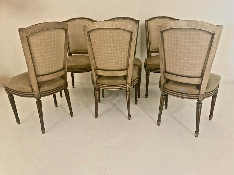 Louis XVI-Style Dining Chairs, Set of 6 For Sale 6