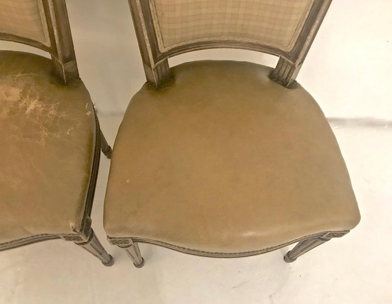 Louis XVI-Style Dining Chairs, Set of 6 In Good Condition For Sale In Pasadena, CA