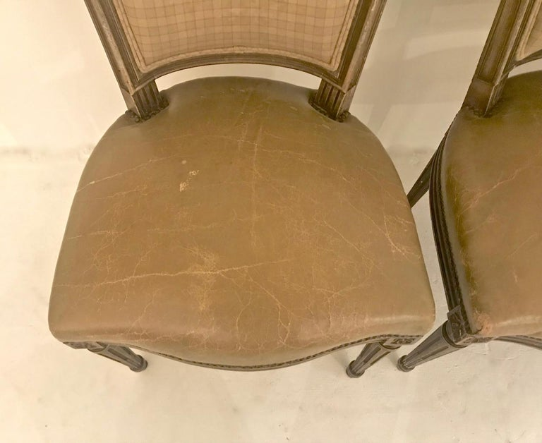 20th Century Louis XVI-Style Dining Chairs, Set of 6 For Sale