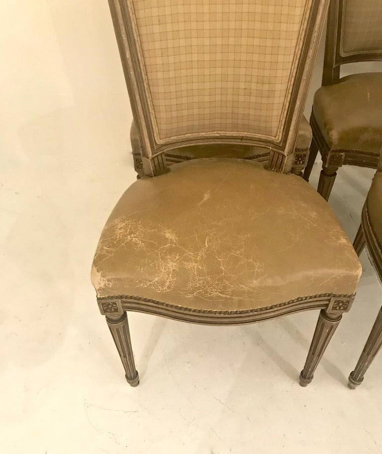 Louis XVI-Style Dining Chairs, Set of 6 For Sale 2