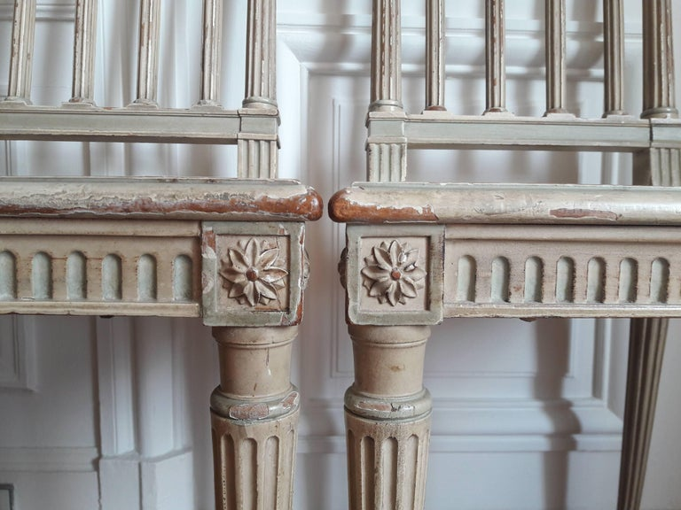 Louis XVI Style Dining Chairs, Set of Four For Sale 4