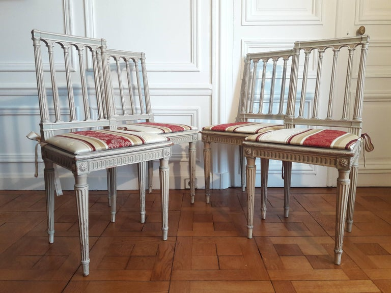 Louis XVI Style Dining Chairs, Set of Four For Sale 6