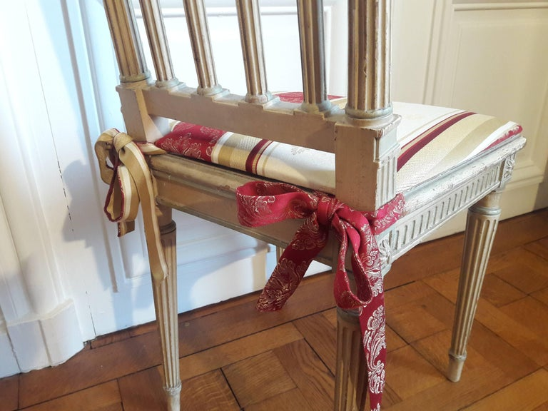 Louis XVI Style Dining Chairs, Set of Four In Good Condition For Sale In Paris, FR