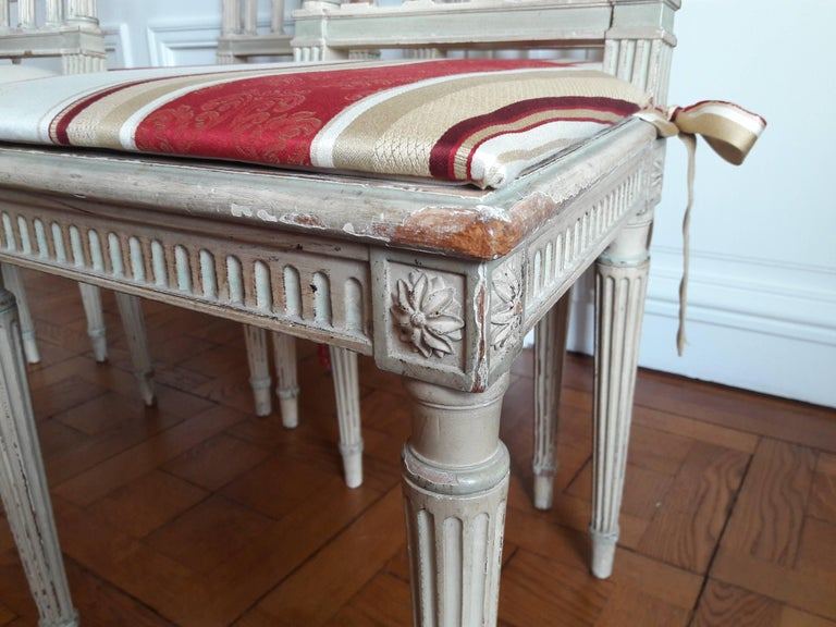 Louis XVI Style Dining Chairs, Set of Four For Sale 1