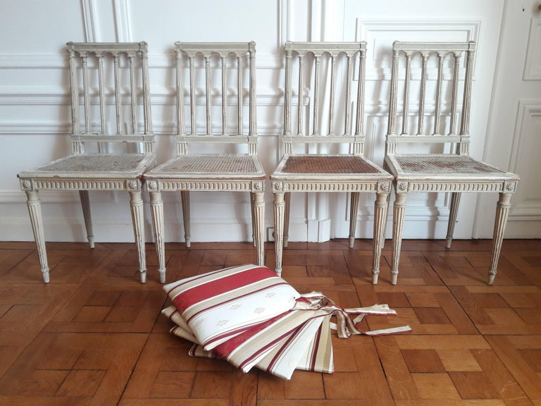 Louis XVI Style Dining Chairs, Set of Four For Sale 3