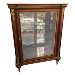 Louis XVI-Style Display/Vitrine Cabinet in Rosewood with Bronze Dore Mounts