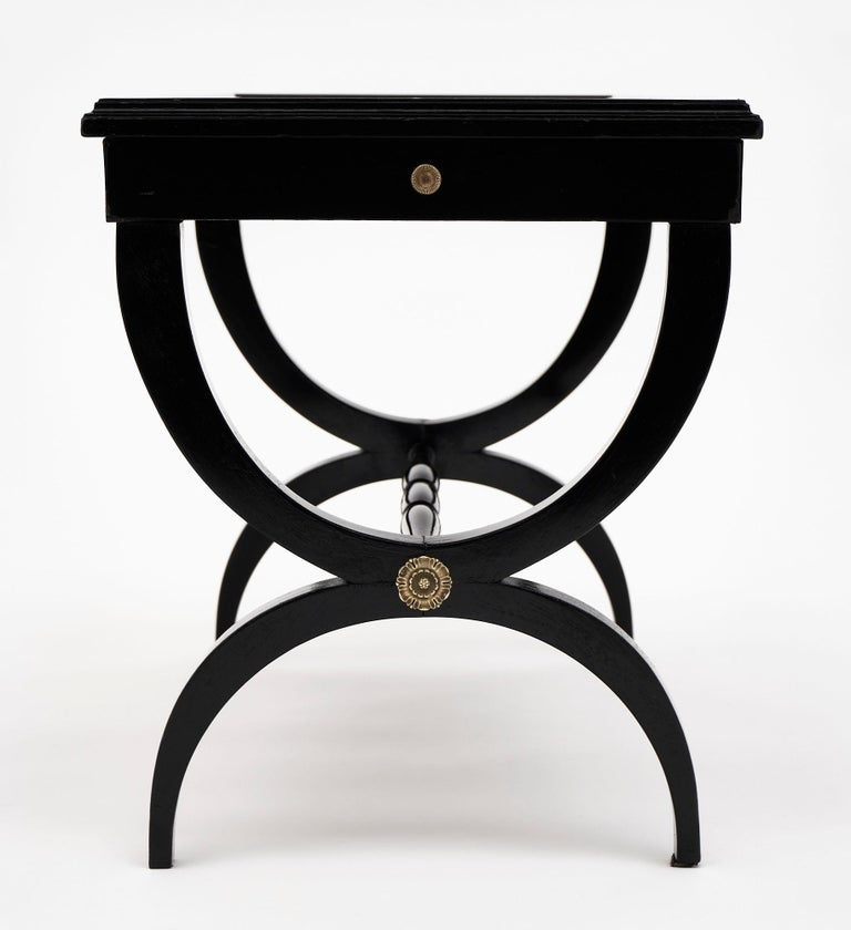 Louis XVI Style Ebonized Coffee Table For Sale 1