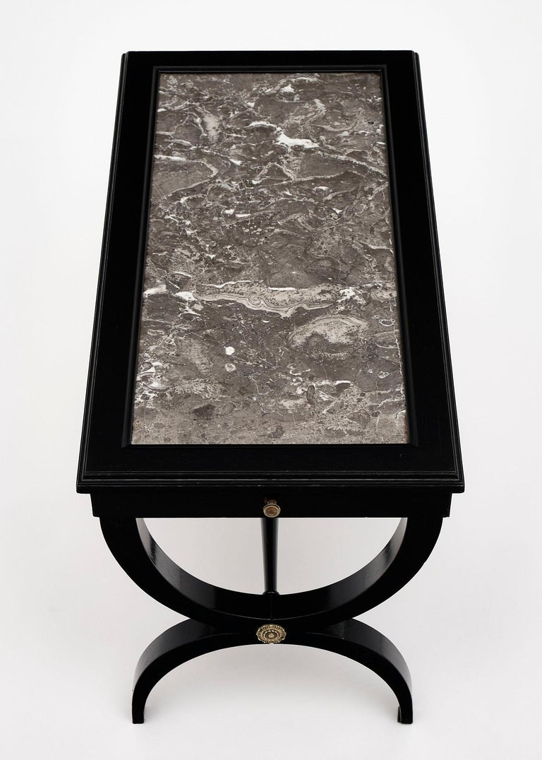 Louis XVI Style Ebonized Coffee Table For Sale 2