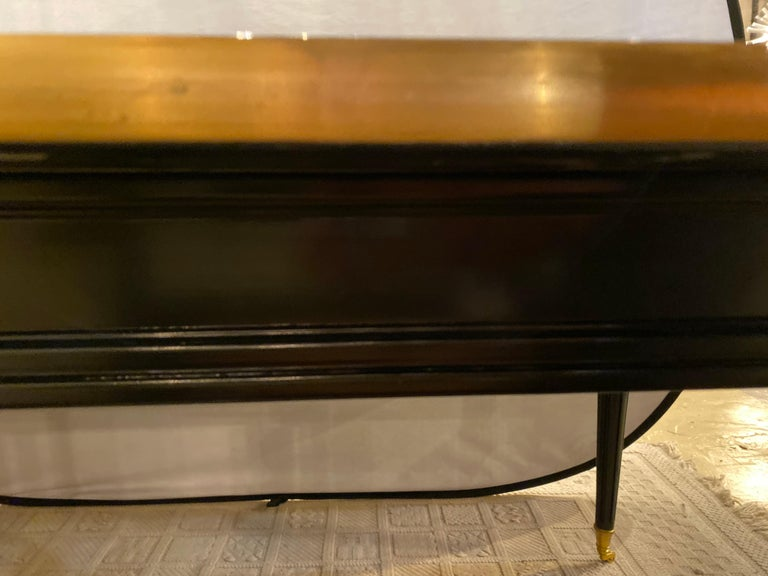 Louis XVI Style Ebony Center or Dining Table Manner of Maison Jansen, Refinished For Sale 9