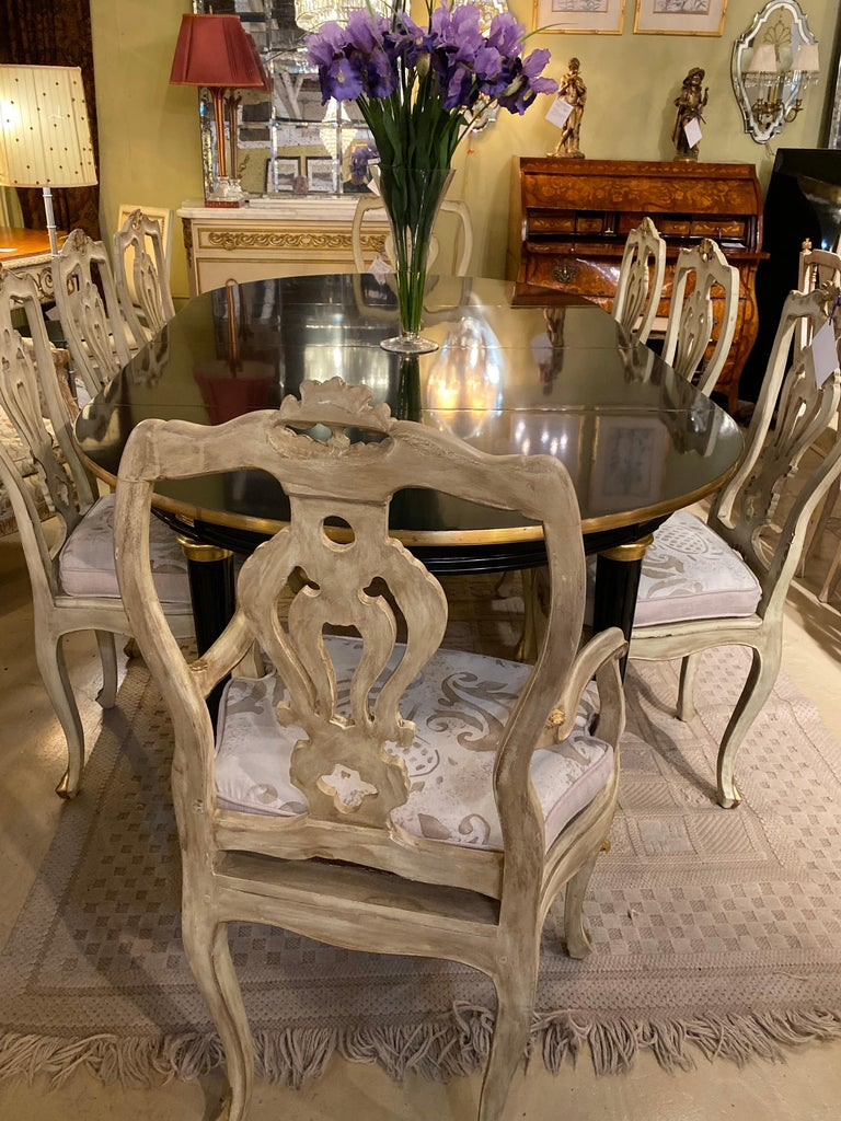 Louis XVI Style Ebony Center or Dining Table Manner of Maison Jansen, Refinished For Sale 12
