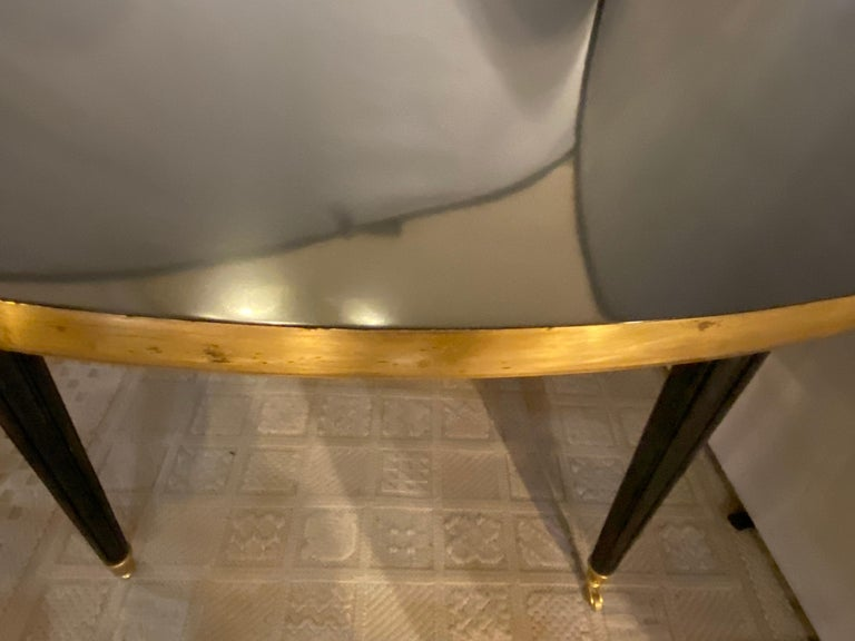 Louis XVI Style Ebony Center or Dining Table Manner of Maison Jansen, Refinished For Sale 6