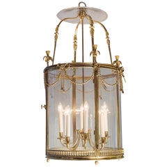 Louis XVI Style Eight-Light Lantern after the Model at Fontainbleau, circa 1900