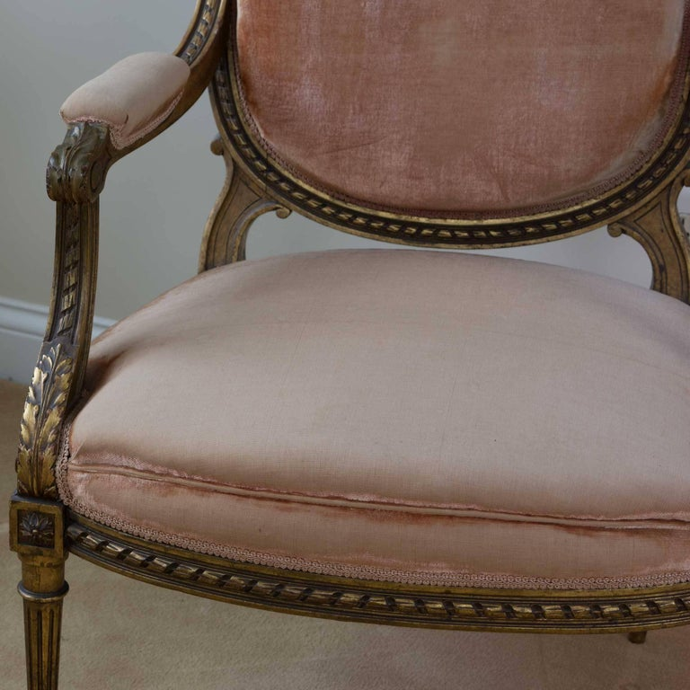 Louis XVI Style Fauteuil Chair In Good Condition For Sale In Pataskala, OH