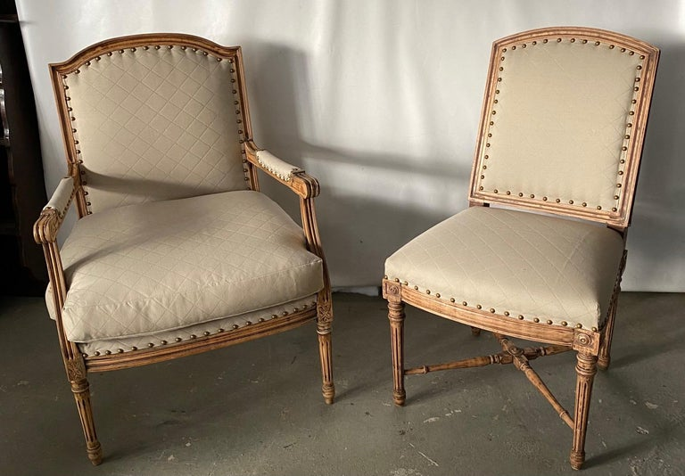 20th Century Louis XVI Style Fauteuil For Sale