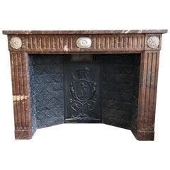 Louis XVI Style Fireplace, Dated 1881, Brussels-Belgium