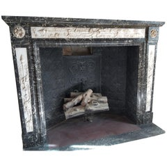Louis XVI Style Fireplace, Dated 1881