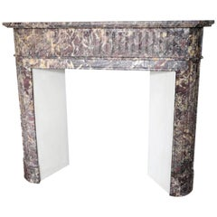 Louis XVI Style Fireplace in Brocatelle Marble
