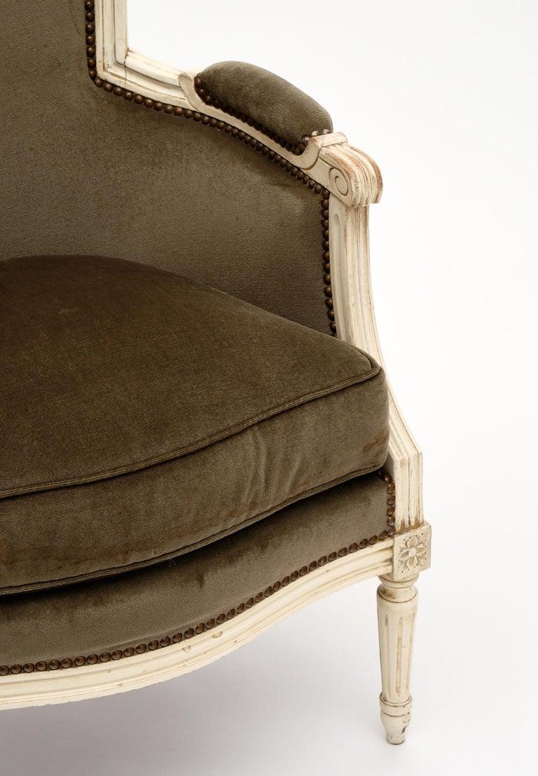 Louis XVI Style French Antique Bergères For Sale 1
