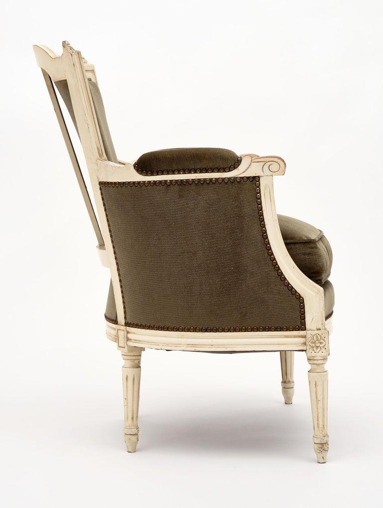 Louis XVI Style French Antique Bergères For Sale 3