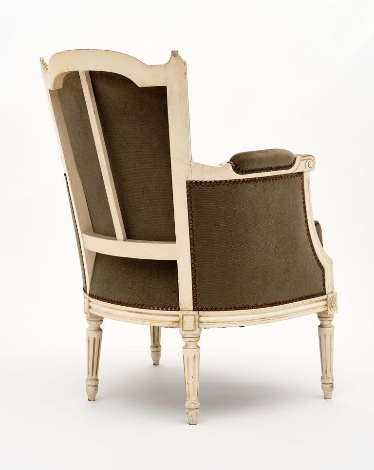 Louis XVI Style French Antique Bergères For Sale 4