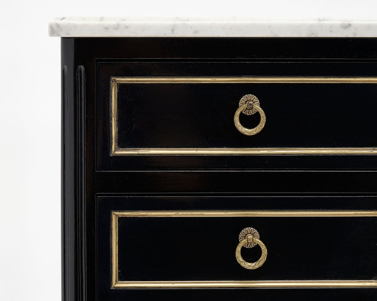 Brass Louis XVI Style French Chiffonier For Sale