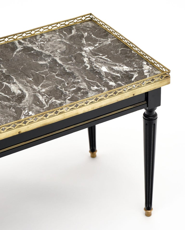 Louis XVI Style French Coffee Table In Good Condition For Sale In Austin, TX