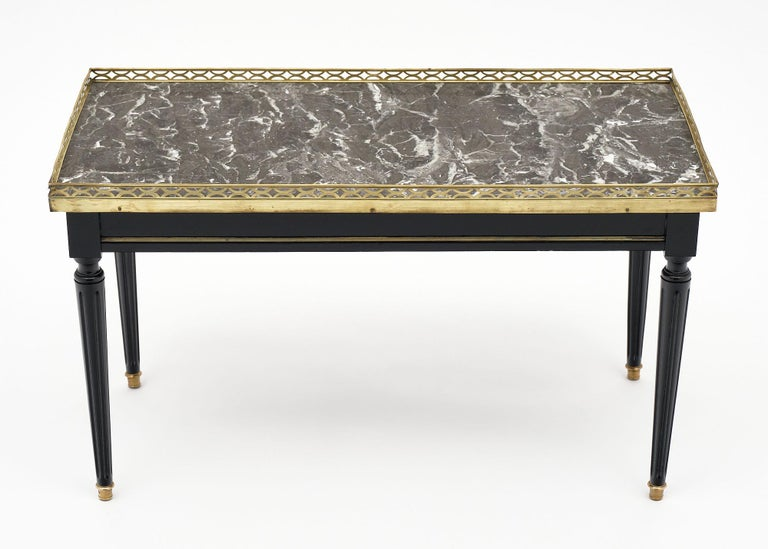 Marble Louis XVI Style French Coffee Table For Sale