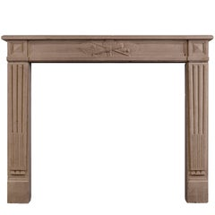 Louis XVI Style French Limestone Antique Fireplace