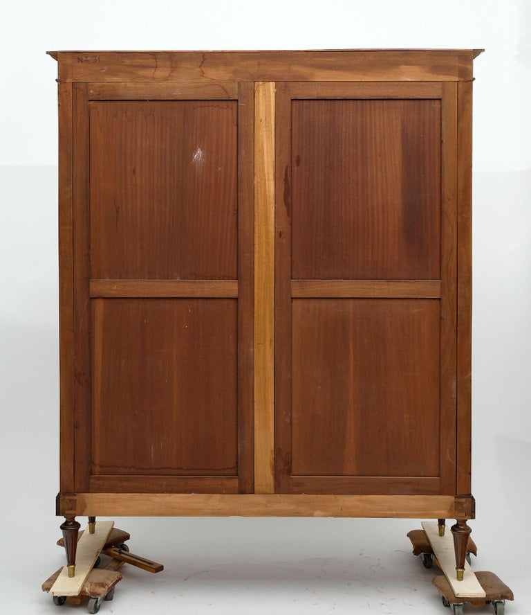 Louis XVI Style French Mahogany Bookcase For Sale 6