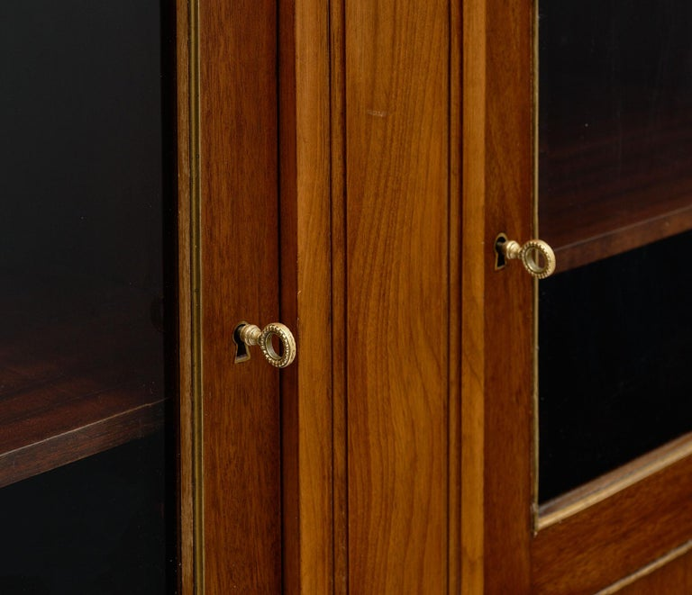 Louis XVI Style French Mahogany Bookcase In Good Condition For Sale In Austin, TX