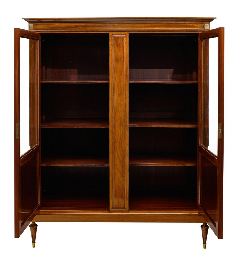 Louis XVI Style French Mahogany Bookcase For Sale 2