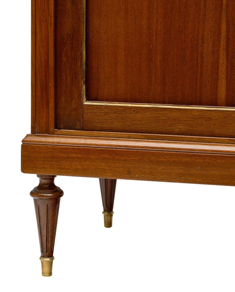 Louis XVI Style French Mahogany Bookcase For Sale 3
