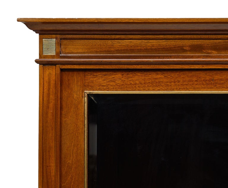 Louis XVI Style French Mahogany Bookcase For Sale 4