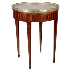 Louis XVI Style French Marble-Top Bouillotte Table