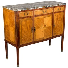 Louis XVI Style French Marquetry Sideboard or Buffet
