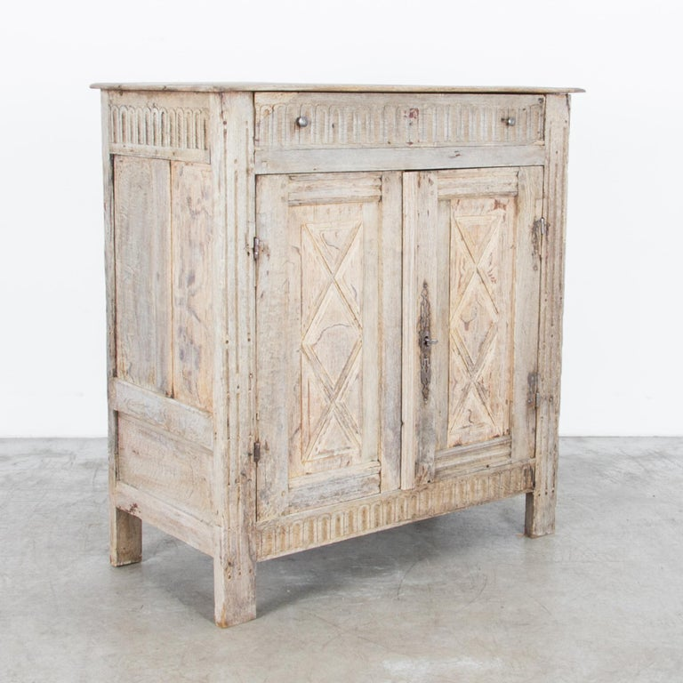 Bleached Louis XVI Style French Oak Buffet For Sale