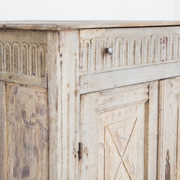 19th Century Louis XVI Style French Oak Buffet For Sale