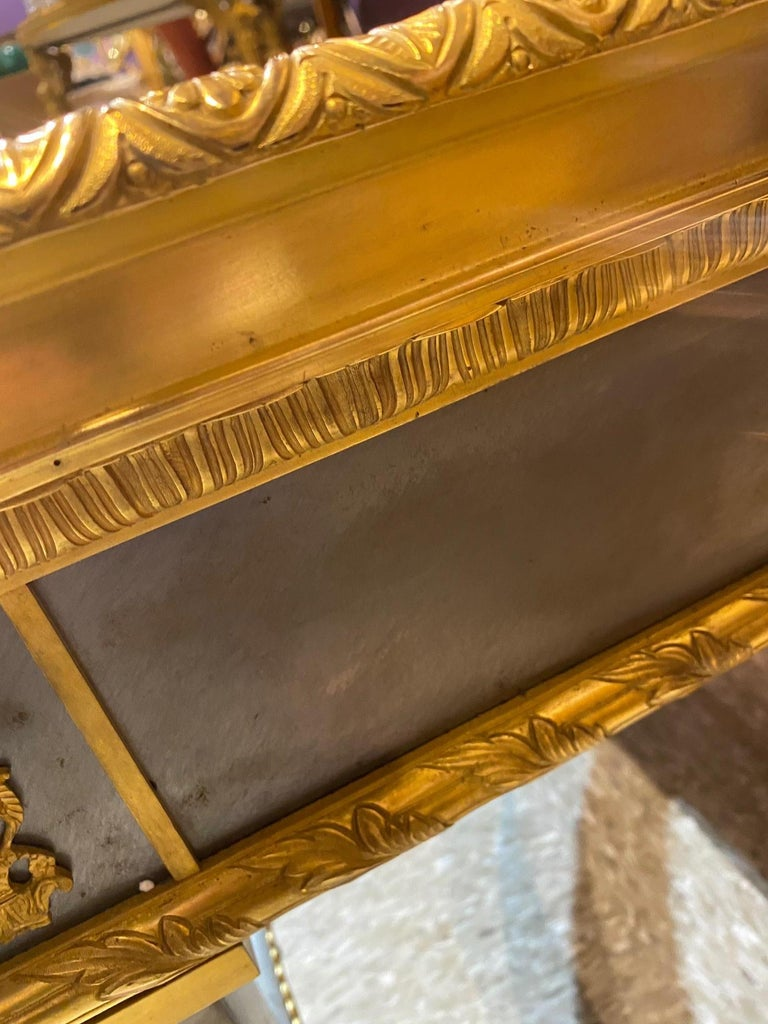 20th Century Louis XVI Style French Ormolu-Mounted Steel Coffee Table For Sale