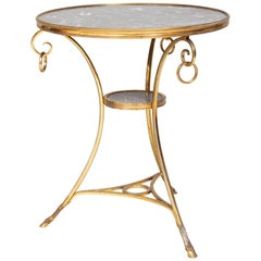 Louis XVI Style Gilt Bronze and Marble Side Table