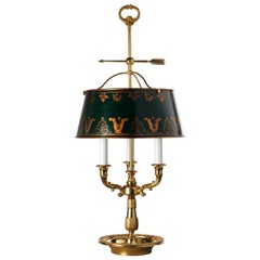 Louis XVI Style Gilt Bronze and Painted Tole Bouillotte