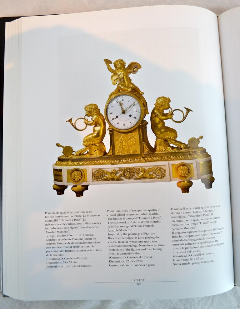 Louis XVI Style Gilt Bronze and White Marble Clock with Bacchante and Satyrs For Sale 6