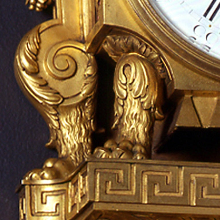 Louis XVI Style Gilt-Bronze Cartel Clock, by Beurdeley In Good Condition For Sale In London, GB