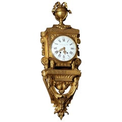 Louis XVI Style Gilt-Bronze Cartel Clock, by Beurdeley