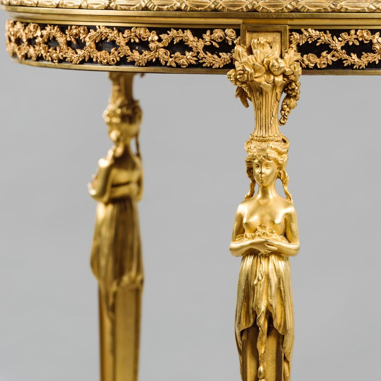 Louis XVI Style Gilt-Bronze Gueridon after Adam Weisweiler, French, circa 1900 In Good Condition For Sale In London, GB
