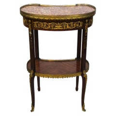 Louis XVI Style Gilt-Bronze Mounted Kidney-Shaped Side Table