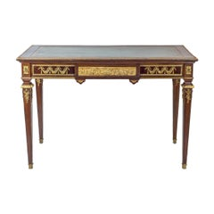 Louis XVI Style Gilt-Bronze Mounted Mahogany Writing Table