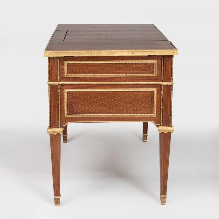 Louis Xvi Style Gilt Bronze Parquetry And Marquetry