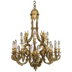 Louis XVI Style Gilt-Bronze Twenty-Four-Light Chandelier