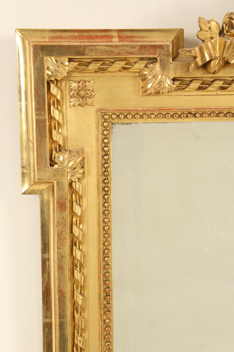 20th Century Louis XVI Style Giltwood Mirror For Sale